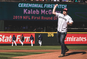Gallery: Kaleb McGary Seattle Mariners First Pitch