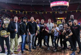 @ASUWrestling Defeats CSU Bakersfield, Celebrates MMA Greats