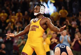 No. 5 @ASUWrestling Takes Down No. 1 Penn State, Snaps 60-Match Win-Streak