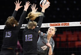 Beavers Fall No. 14 Huskies Despite Bennett's 19 Kills