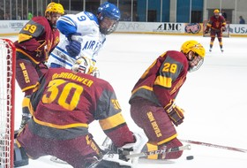 Complete Team Effort Leads Hockey to Victory over Air Force