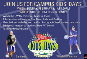 Huskies to host Campus Kids' Days on Sunday vs. Idaho
