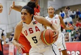 Recee' Caldwell and Team USA Capture Gold, Defeat Canada 104-74