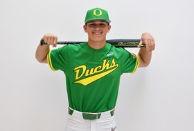 Jack Scanlon sings with Oregon Baseball