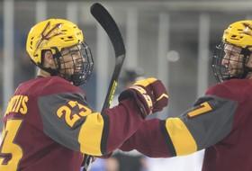 Hockey Defeats Air Force, 5-2, to Earn Road Sweep