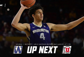 Huskies Conclude Mountain Swing at Utah, Saturday at 1:30 p.m.