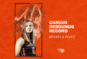 Pivec Sets Rebounding Record, Beavers Fall to Stanford