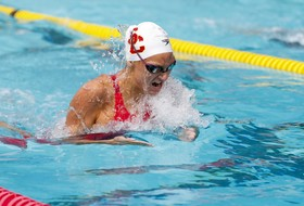 Isa Odgers Wins Three Races In USC Victory Over Utah