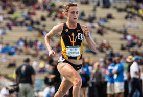 T&F's Houlihan Defends Two Titles, McBride Wins High Jump At Pac-12 Championships