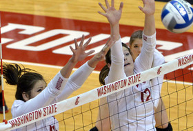 Volleyball Loses at Cal in Tight Sets