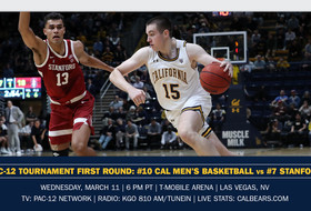 #10 Cal Set For First-Round Matchup With #7 Stanford