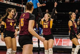 Balanced Play Pushes @SunDevilVB To Five-Set Win At Oregon State