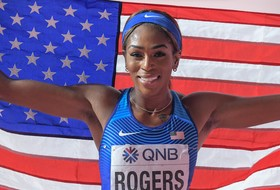 Rogers Uses Late Sprint for World Silver
