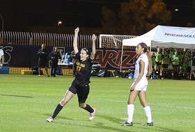 Farquharson's Third Career Hat-Trick Leads Sun Devil Soccer to 4-1 Win Over No. 23 Arizona