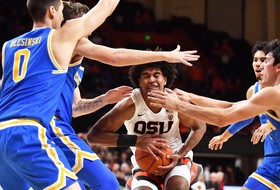 UCLA Defeats Oregon State, 62-58, at Gill Coliseum
