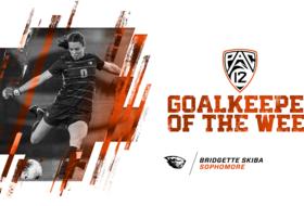 Skiba Earns Pac-12 Goalkeeper of the Week