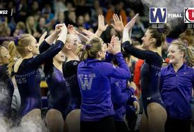 Washington Gymnastics Posts Season-High 196.300 vs. Utah