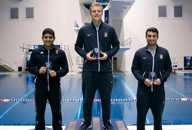 Fast Relays, Second Place Diving Finish Highlights First Day at Pac-12 Championships