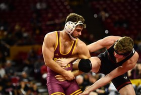No. 3 @ASUWrestling Rounds Out Pac-12 Competition in Golden State