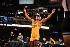 @ASUWrestling Sweeps Duals on the Diamond at Chase Field