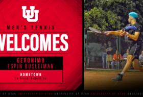 Utah Men's Tennis Welcomes Geronimo Espin Busleiman
