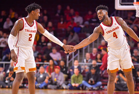 Jonah Mathews, Daniel Utomi Lead USC Men's Basketball To 88-56 Rout Over Cal