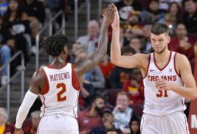 Nick Rakocevic, Jonah Mathews Reach 1,000 Career Points as USC Handles South Dakota State, 84-66