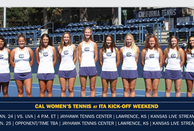 No. 17 Cal Kicks Off ITA Tourney Vs. No. 20 UVa